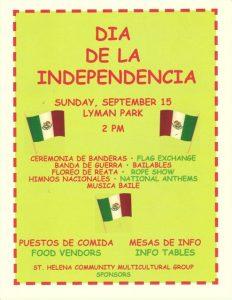 El Día de Independencia en St. Helena