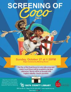 Proyección de la película Coco y calaveritas literarias